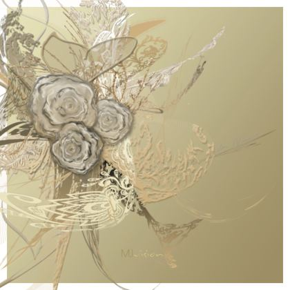 Hot Dish Pads - Grytlappar - 50 Shades of lace gold