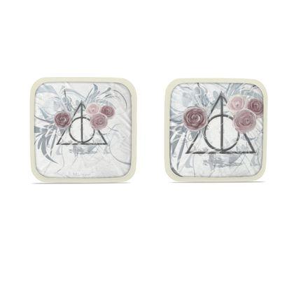 Hot Dish Pads - Grytlappar - Flower Triangle white