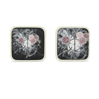 Hot Dish Pads - Grytlappar - Flower triangle black