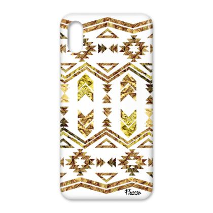 Flossie Natural Aztec iPhone X Case