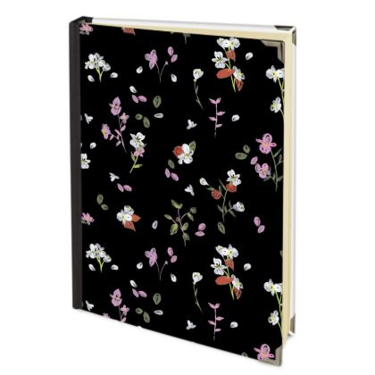 Black Floral Hand Painted 2018 Deluxe Diary