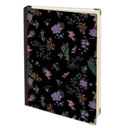 Black and Purple Floral 2018 Deluxe Diary