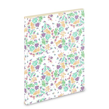 White Ditsy Floral Pocket Note Book