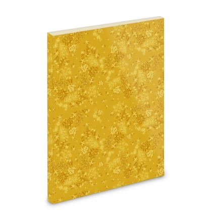 Mustard Yellow Floral Pocket Note Book