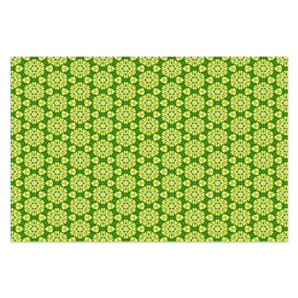 Yellow, Green, Sarong  Geometric Florals  Dandelion