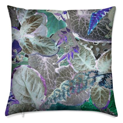 Grey Forna Print Luxury Cushion