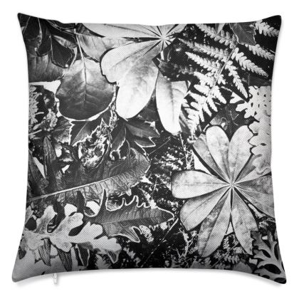 Black Forna Print Luxury Cushion