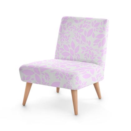 Occasional Chair- Emmeline Anne Pink Leaves