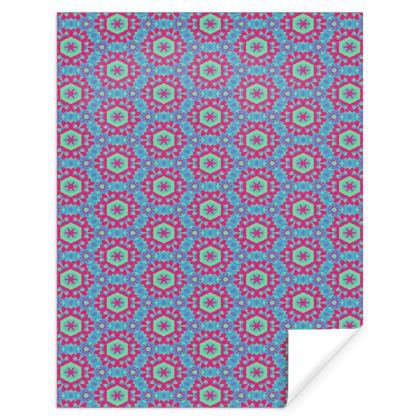 Blue Red  Geometric Florals  Tooth Fairy