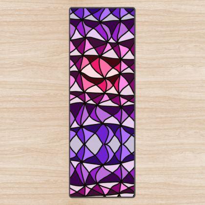 Yoga Mat in pink and purple geometric