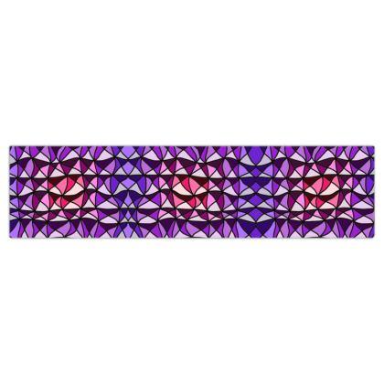 Dog Lead in pink and purple geometric