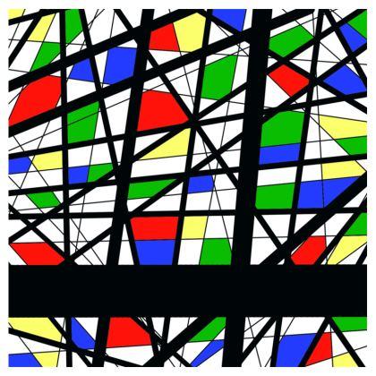 Hoodie in Geometric Basic Colors