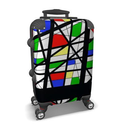 Suitcase in Geometric basic c olors