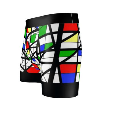 Cut & Sew Boxer Briefs in Geometric Basic Colors
