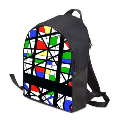 Backpack in Geometric Basic Colors