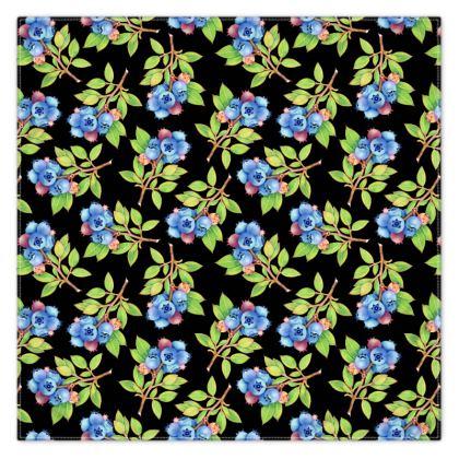 Blueberry Botanical Scarf Wrap or Shawl