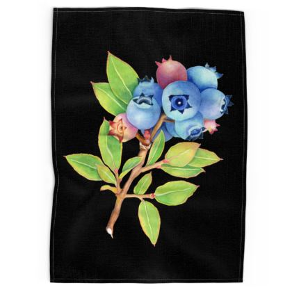 Blueberry Botanical Tea Towels