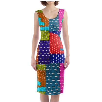 Bright Weave Bodycon Dress