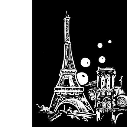 Paris on a pair flip-flops