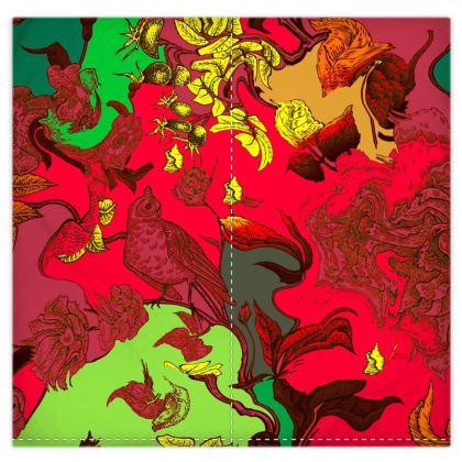 Copri piumino con stampa artistica