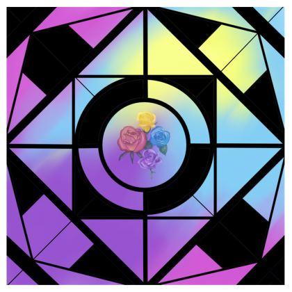 Swimsuit in Geometric floral design