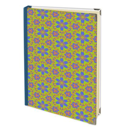 Blue, Orange Journals   Geometric Florals   Lazy Daisy