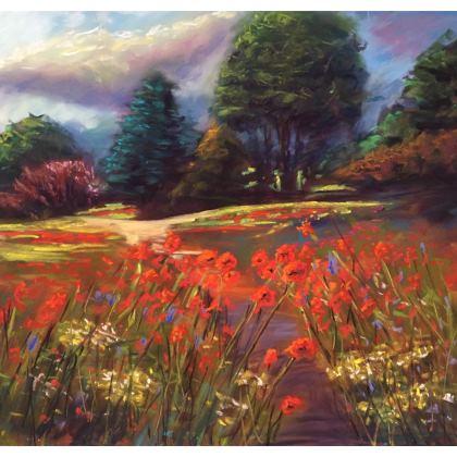 Designer Poppies Cushion