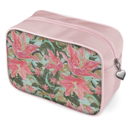 Pink, Turquoise Wash Bags  Lily Garden   Schubert