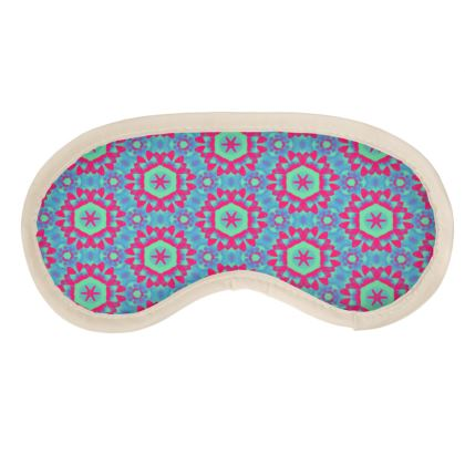 Blue, Red Eye Mask  Geometric Florals Tooth Fairy