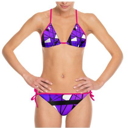 Bikini in Geometric purple gradient