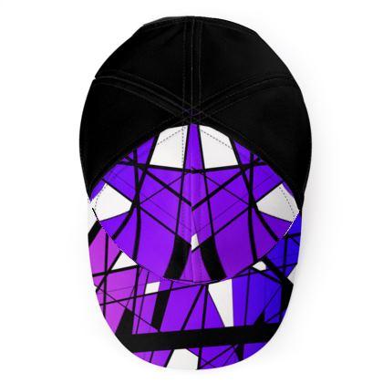 Baseball Cap in Geometric purple gradient
