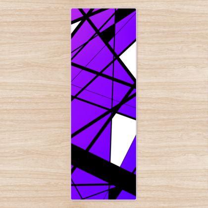 Yoga Mat in Geometric purple gradient