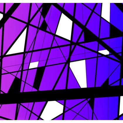 Hoodie in Geometric purple gradient