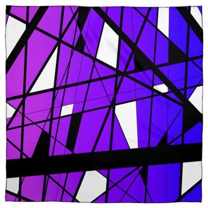 Scarf Wrap or Shawl in Geometric purple gradient