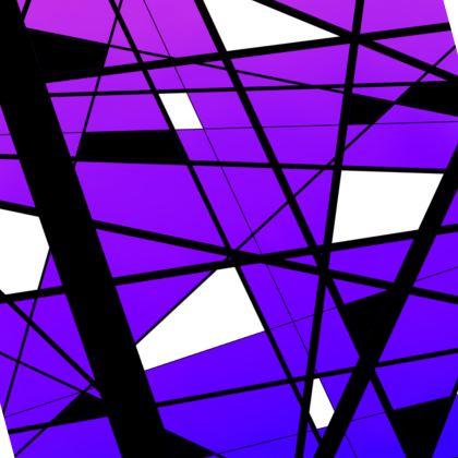 Skate Dress in Geometric purple gradient