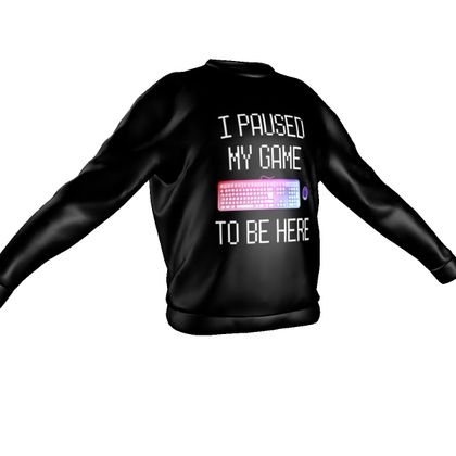 Sweatshirt - I Paused My PC Game To Be Here