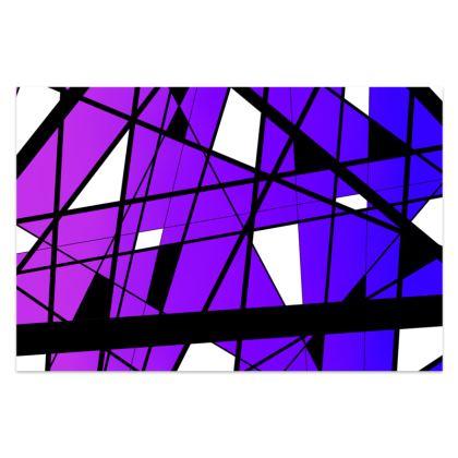 Sarong in Geometric purple gradient