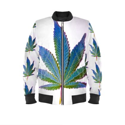 Blue Leaf Bombers Jacket