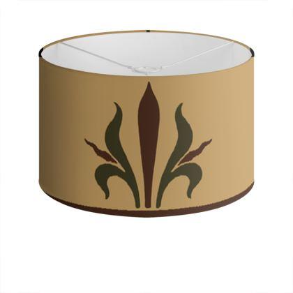 Drum Lamp Shade - Insignia Pattern 1