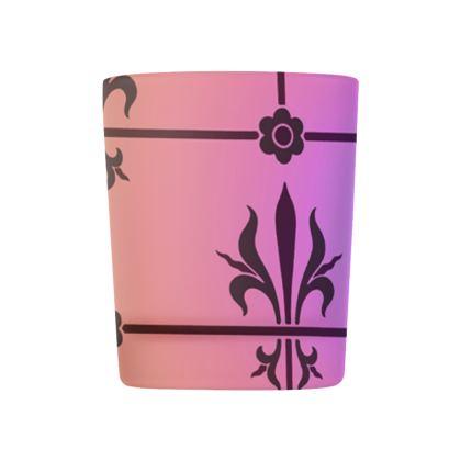 Glass Tealight Holder - Insignia Pattern 2