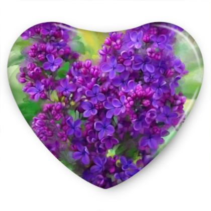 Floral Watercolor Lilac Sweet Heart Tin