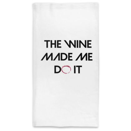 Neck Tube Scarf - The Wine Made Me Do It (Black Text)