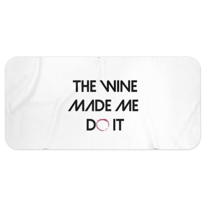 Blanket Scarf - The Wine Made Me Do It (Black Text)