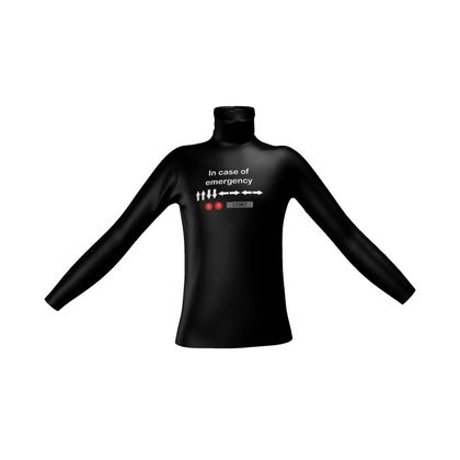 Mens Slim Fit Roll Neck - In Case of Emergency - Use Cheat Code 2