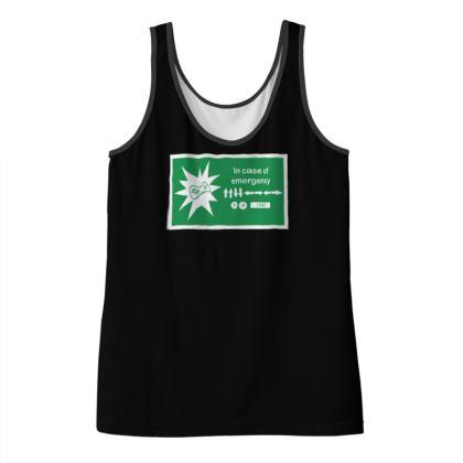 Ladies Vest Top - In Case of Emergency - Use Cheat Code
