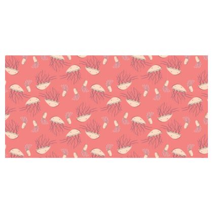 Rosy Jellyfish Pink Patterend Travel Wallet