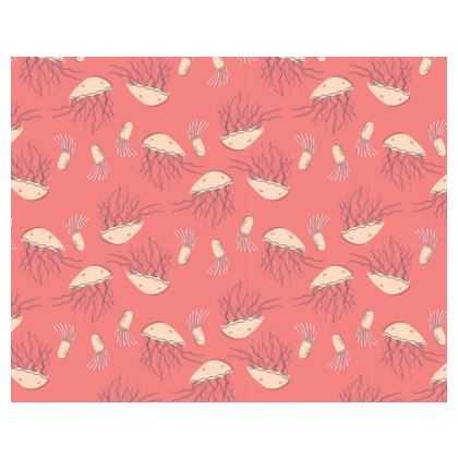 Rosy Jellyfish Pink Patterned Espadrilles