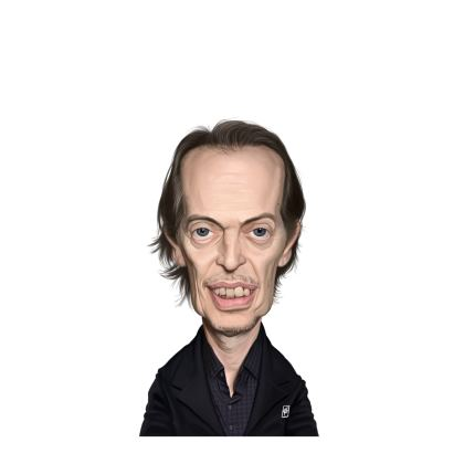Steve Buscemi Celebrity Caricature Ladies Cut and Sew Vest