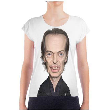 Steve Buscemi Celebrity Caricature Ladies T Shirt