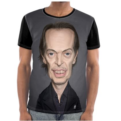 Steve Buscemi Celebrity Caricature Cut and Sew T Shirt